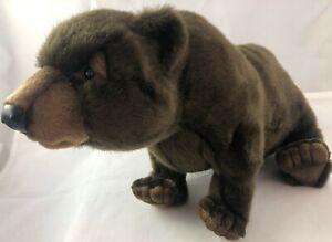 Hansa Creations Soft Grizzly Bear 'Quality Plush Toy NWT