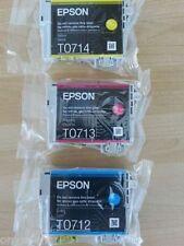 Genuine Epson T0712 T0713 T0714 CMY Ink Stylus SX415 SX600FW SX515w WOBox