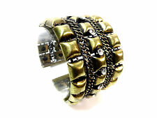 LADIES CHUNKY BRONZE LAYERED MAGNETIC CHUNKY BANGLE NEW UNIQUE (ST96)