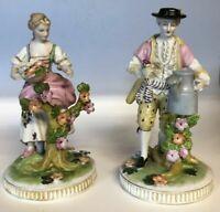 """Antique German Sitzendorf Porcelain figurine, Couple, 7.25"""" H."""