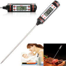 Digital LCD Temperature Tester Kitchen Food Liquid Barbecue Thermometer Probe UK