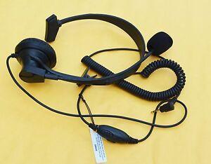 Over-Head Earpiece/Headset Boom Mic VOX For Cobra Radio CX312 CXT345 CXT390