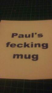 Personalised mug vinyl sticker/ mug mrs  browns boys VINYL STICKERS / DECAL