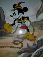 Disney Hand Painted  Animation Art Cel Mickey Mouse/Pluto Alpine Climbers