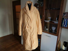 ERMANNO SCERVINO FANTASTIC PADDED GOLD COLOUR COAT WITH SHAWL COLLAR(HOOD)-10-UK