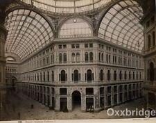 NAPOLI GALLERIA UMBERTO Naples Italy ALBUMEN PHOTO 1880 Italia Vintage Antique
