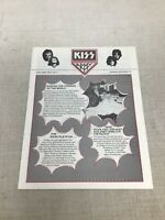 VINTAGE - KISS Army Volume 2 No 1 Newsletter Spring 1977 Aucoin