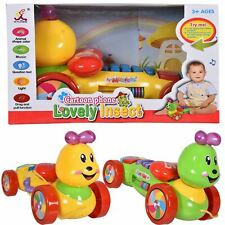 Kids Insect Toy Learning Cartoon Phone Drag Pull Light & Music Children Set