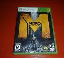 Metro: Last Light (Microsoft Xbox 360, 2013) -Complete