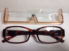 Womens Readers Fashion Reading Glasses With Case +1.75 Brown Frames  #DCMR24