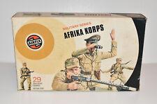 Vintage AIRFIX WW2 German AFRIKA KORPS Target Box Plastic Toy Soldiers 1:32