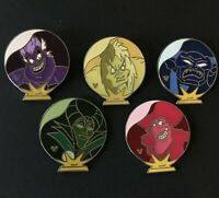 WDW Hidden Mickey 2007 Series 2 - Crystal Ball Villains 5 pins Disney Pin 61766