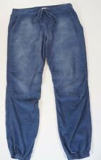 Cloth Stone Womens Blue Tie Front Lace Up Chambray Jogger Pants 30 x 27