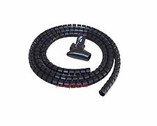 2M BLACK Cable Tidy Wire Organising Tool Zip Kit Spiral Wrap  TV Office NEW