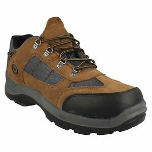 MENS HI TEC LACE STEEL TOE CAP WATER PROOF SUEDE SAFETY WORK BOOTS SAFEHIKE LOW