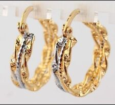 Snap Closure Crystal Yellow Gold Filled Fashion Earrings