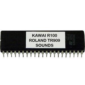 KAWAI R100 R50 - Roland TR909 TR-909 klingt EPROM drum machine Weinlese