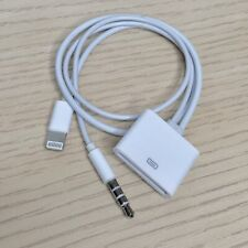 Lightning Aux to 30 pin Dock Audio Adapter Converter Cable for iPhone 4 to 5/6