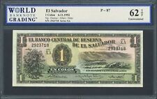 San Salvador, El Salvador, 1 colon, 6-11-1952, series XA, WBG UNC 62 TOP, P-87