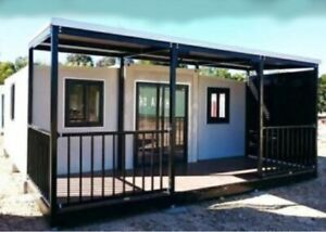 EXPANDABLE HOUSE -  Prefab House, Fully Assembled, 38 SQM, 409 SQ FT w/deck