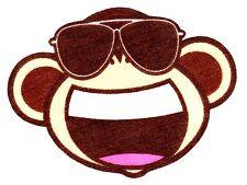 "3.5"" Bobby jack monkey music fabric applique iron on character"