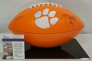 Mike Williams Signed Clemson Tigers Orange Football JSA SD24032