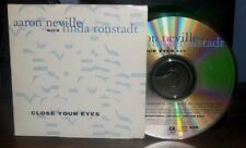 AARON NEVILLE & LINDA RONSTADT CLOSE YOUR EYES PROMO CD WARM YOUR HEART