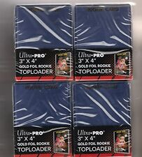 "100 ULTRA-PRO 3"" x 4"" "" GOLD ROOKIE"" TOP-LOADERS, SUPER CLEAR"