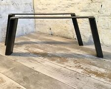 2 fatto a mano 60x40 acciaio GREGGIO TAVOLINO upcycle Furniture GAMBE STILE INDUSTRIALE