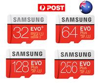AUS SamSung Evo Plus 32/64/128/256GB Class 10 SDHC SDXC Memory Micro SD Card