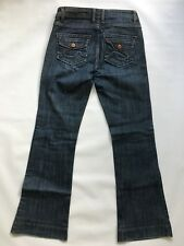 CAbi Women's [Size 0] Dark Wash Flare Blue Jeans Buttoned Flap Pockets #B13