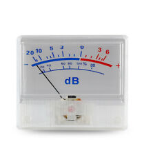 Accurate Classic Vu Meter Audio Power Amplifier Indicator Db Table Level Header