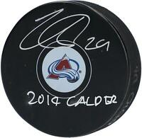 "Nathan MacKinnon Colorado Avalanche Signed Hockey Puck with ""2014 Calder"" Insc"