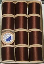"""Cheap 12 Spools Rod Winding Thread Merrick Tackle Brown Ncp Size """"D"""""""
