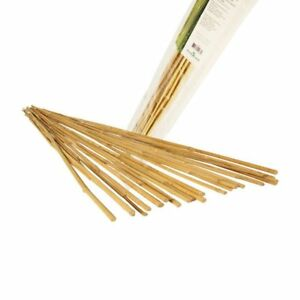 Natural Bamboo Stake Plant Support Strong Garden Light Weight Post 25pcs US