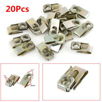40pcs 6mm Hole Spring Metal Plate U-Type Clips Speed Nuts for Car Panel Fender