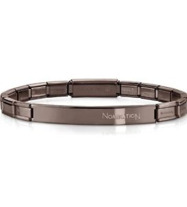 Nomination Trendsetter Chocolate PVD Smarty Bracelet RRP £50