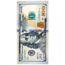 30x60 Large Velour $100 Dollar Bill Cruise Vacation Pool Gift Bath Beach Towel