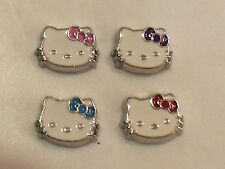 Hello Kitty Floating Charm ~ Red/Pink/Purple or Blue Bow ~ New ~ Free Shipping