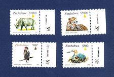 ZIMBABWE - scott 937-940 - FVF MNH - Bird, Rhinoceros, Cheetah Cat  - 2003