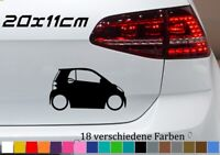 Smart Silhouette 20x11cm Stickers Aufkleber - for Smart Tuning Fortwo Coupe JDM