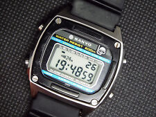Rare Vintage Sanyo Digital Watch 200m Diver Scuba Logo Casio Era Marlin Sailboat