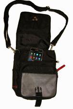 CANDIE'S Convertible Shoulder Crossbody Purse Belt Bag (M) Adj Strap Black Nylon