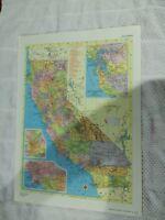 1958 Railroad Map of California - Railroad Map of Colorado On Reverse