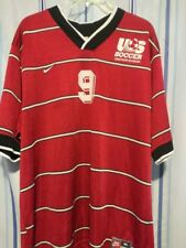 Ultra Rare Nike Us Soccer Amateur Division Jersey Red Mens Size Xlarge #9