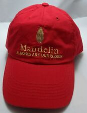 MANDELIN ALMONDS ARE OUR PASSION hat cap red strapback california almond paste