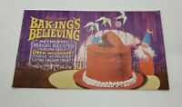 Vintage Betty Crocker's Baking's Believing Magic Recipes Booklet 1960s Colorful!