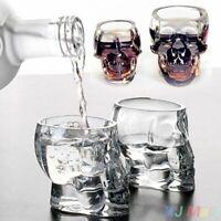 Shot Glass Cup Crystal Skull Head Bar Party Whiskey Vodka Drinking Skeleton Mug