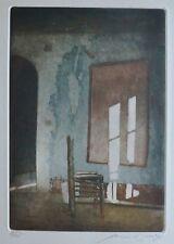 "REINHARD ZADO 1985 "" unpainted picture"" 78/100 HAND SIGNED ETCHING German Artist"