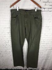 GAP JEANS GREEN PANTS 34 X 32 MEN'S STRAIGHT LEG COTTON WORK SLACKS (AAG)